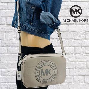 NWT Michael Kors Fulton Sport Leather Crossbody